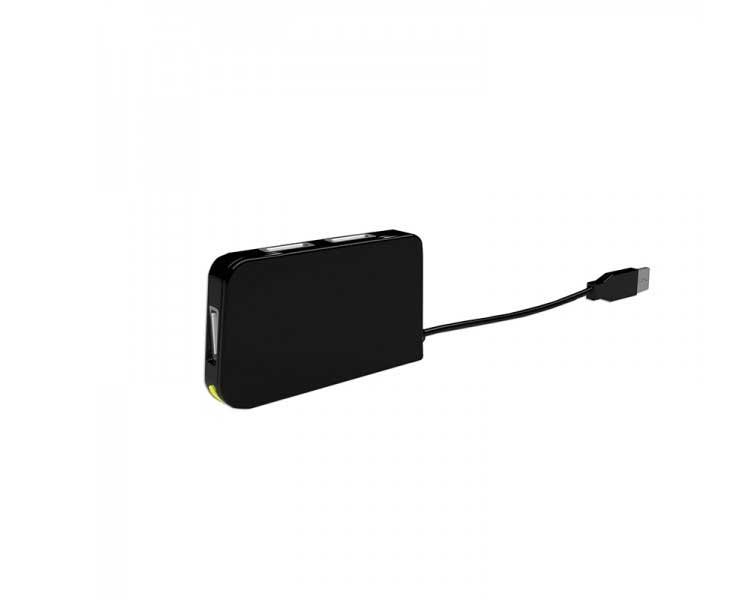 HUB 4 PUERTOS USB TRAVEL BLACK APPROX
