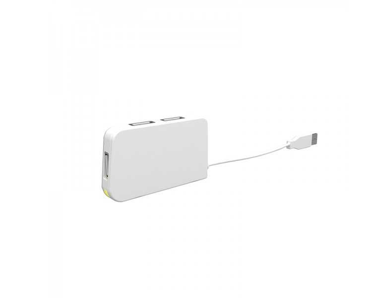 HUB 4 PUERTOS USB TRAVEL WHITE APPROX