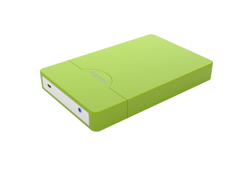 "CAJA EXTERNA USB 2.5"" SATA SCREWLESS GREEN APPROX"