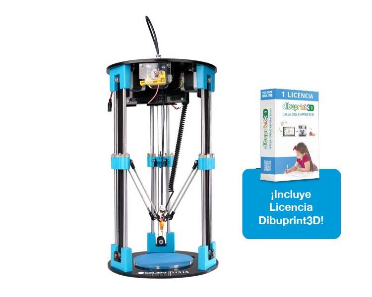 IMPRESORA 3D COLIDO DELTA 1315 + DIBUPRINT BASIC