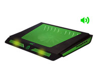 KEEPOUT GAMING COOLER PAD + 7W SPEAKERS