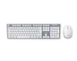 TECLADO WIRELESS + RATON OPTICO PLATA/BLANCO APPROX