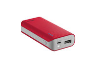 POWER BANK 4400mAh RED TRUST