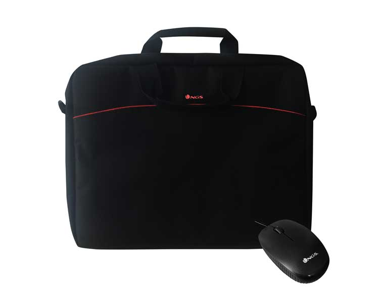"MALETIN + RATON BUREAU KIT 16"" BLACK NGS"