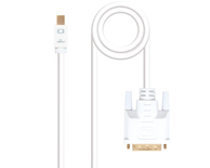 CONVERSOR MINI DISPLAYPORT A DVI 2 M WHITE NANOCABLE