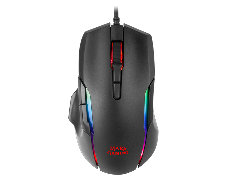 RATON MARS GAMING MMX OPTICAL RGB BLACK