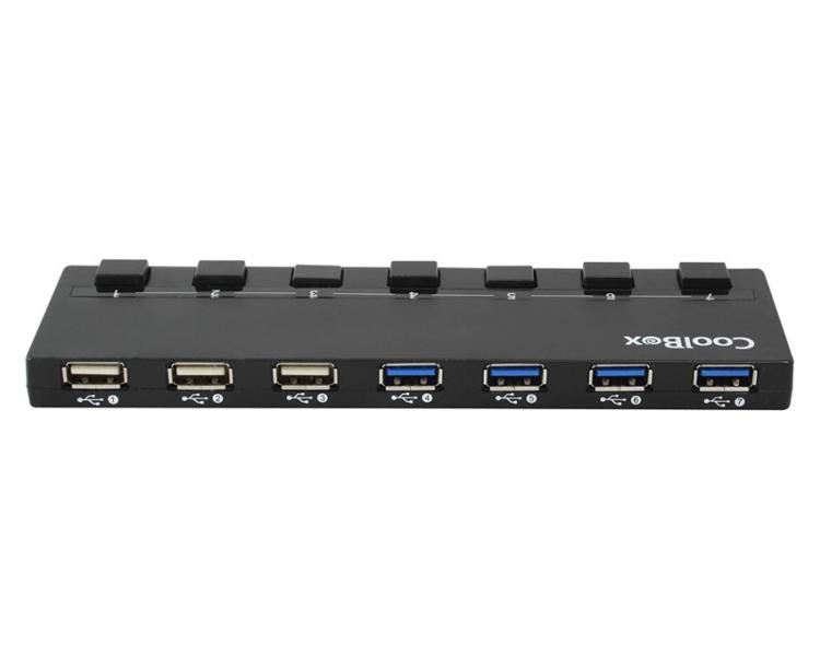 HUB 7 PUERTOS USB (4xUSB3.0) COOLBOX