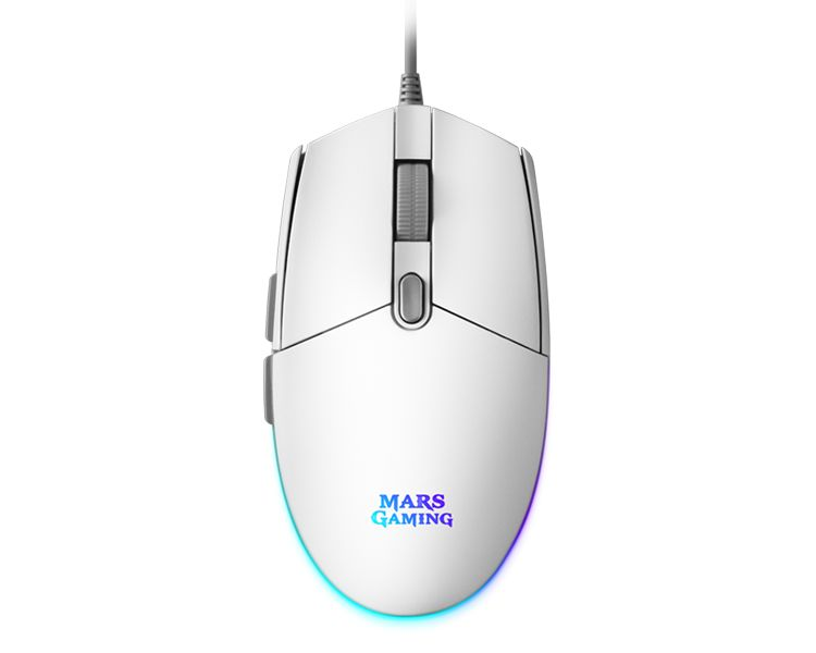 RATON OPTICO MMG RGB WHITE MARS GAMING