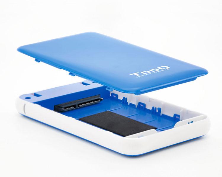 CAJA EXTERNA USB 2.5'' 9.5MM SATA AZUL TOOQ
