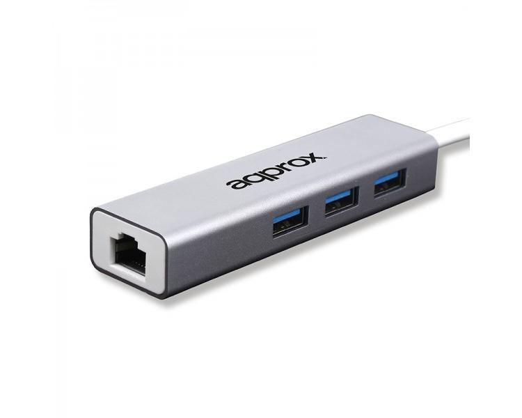 TARJETA DE RED 10/100/1 Gbit USB 3.0 + HUB USB 3.0 APPROX