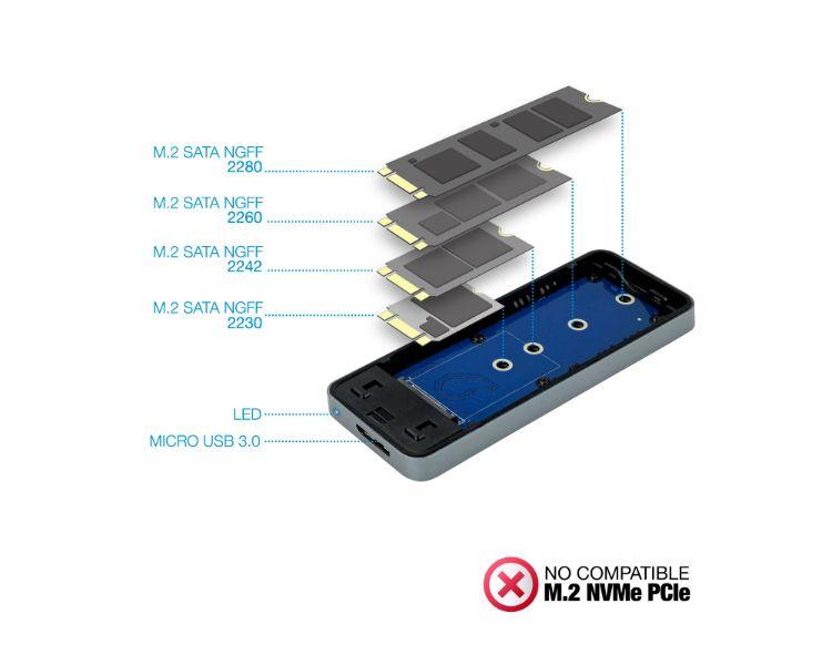 CAJA EXTERNA USB SSD M.2 NGFF USB GREY TOOQ