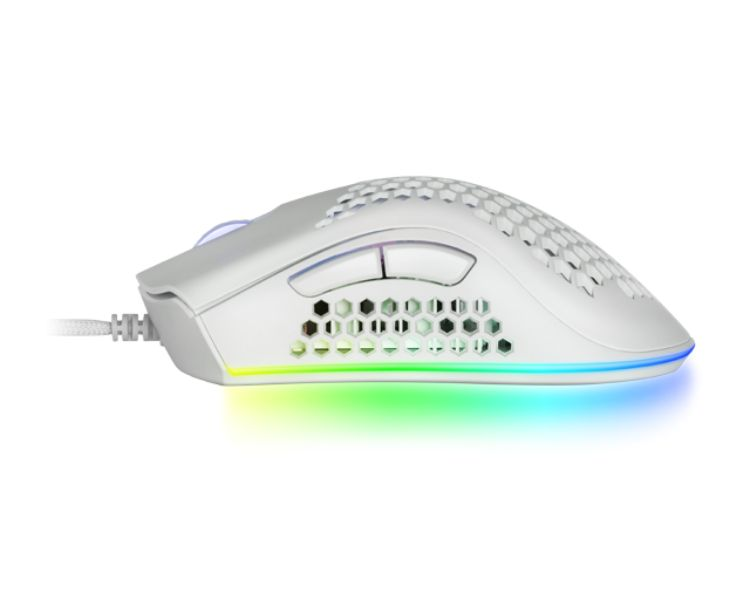 RATON OPTICO MMEX RGB WHITE MARS GAMING