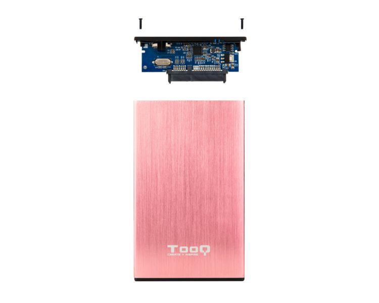 CAJA EXTERNA USB 2.5'' 9.5MM SATA PINK TOOQ