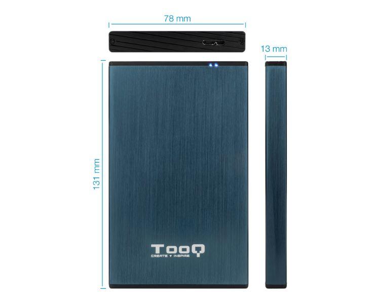 CAJA EXTERNA HDD 2.5'' 9.5MM SATA DARK BLUE TOOQ